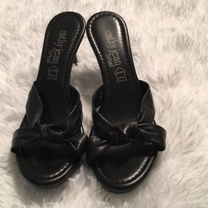 Cathy Jean  Brazil Black Heeled Sandals